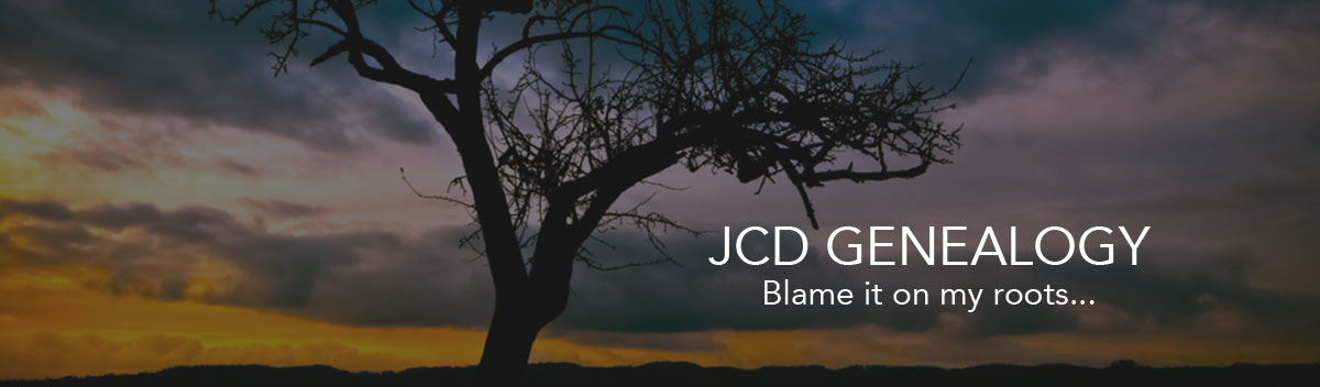 JCD Genealogy Header Image - Tree at Sunset